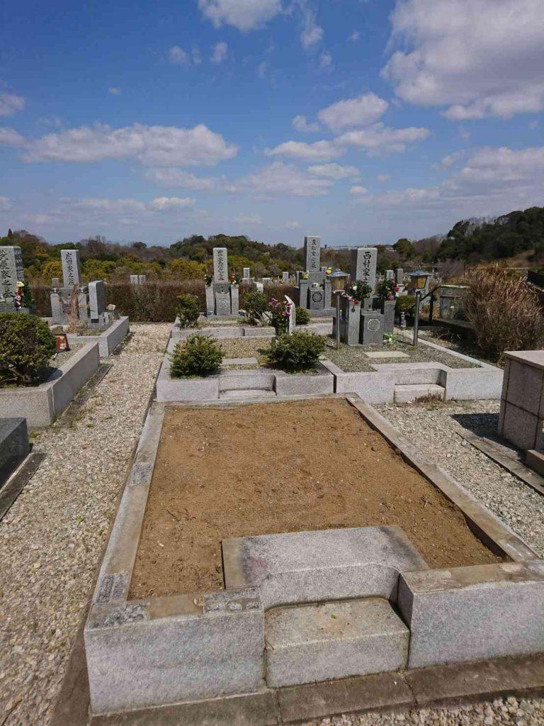 新規墓石建立施工前